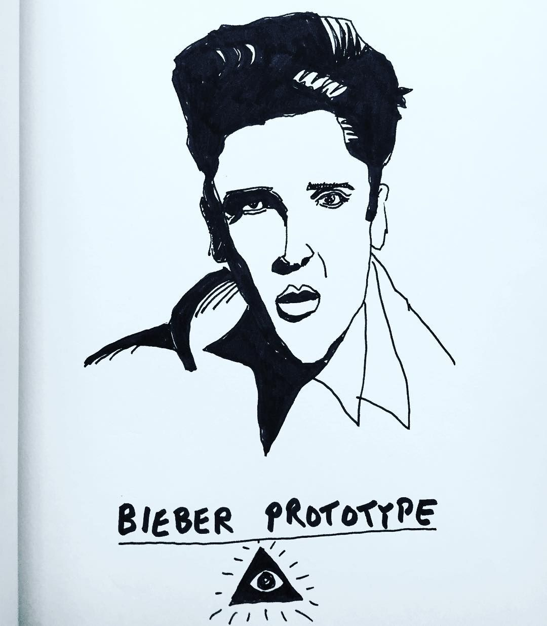 Bieber Prototype #bieber #elvis #art #illustration #music #popart #instaartist #popular #love #drawing