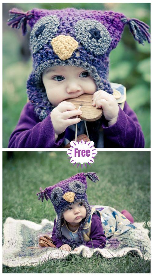 Crochet Baby Woolly Owl Hat Free Crochet Patterns Haken