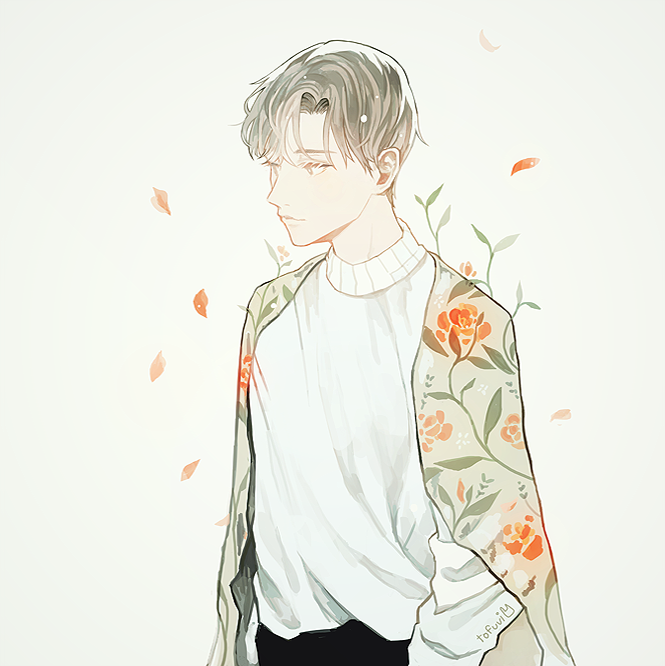 It's just a picture of Lively Flower Boy Drawing