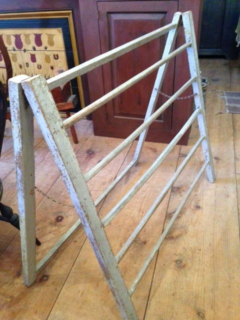Antique Drying Rack This White Gray