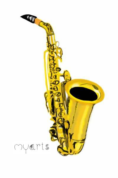 Saxophone Illustration Music Saxophone Draw Vorlagen Bilder