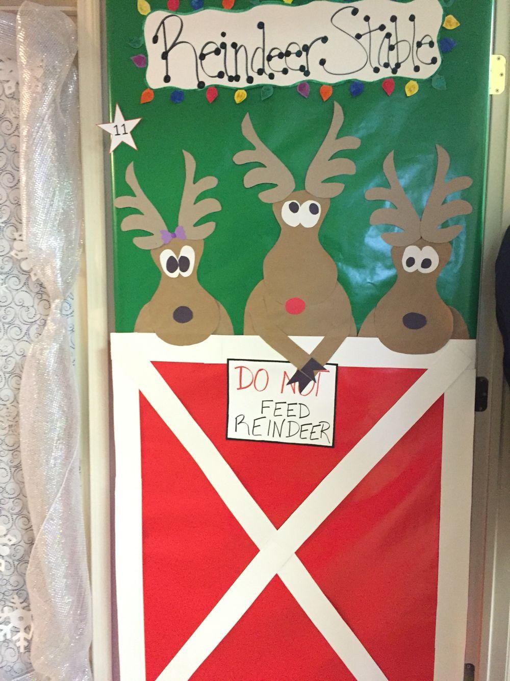Christmas Office Door Decorating Competition Reindeer