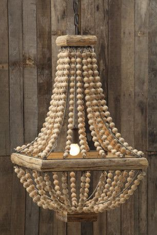Rustic Wood Chandeliers rustic square base wooden beaded chandelier | wooden chandelier