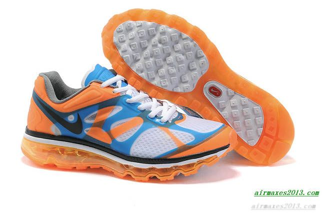 2012 Air Maxes Nike White Bright Mango Bright Blue Black 487982 003 ... 12d2f1075ca6