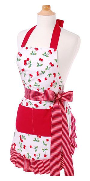 Ready to Ship As Pictured Full Cooking Apron Cherry Apron