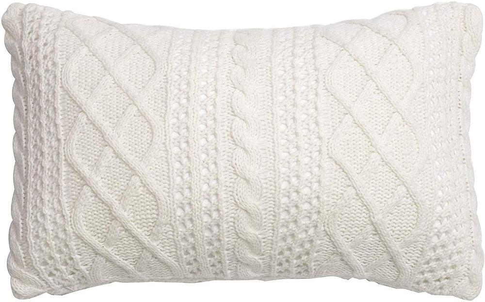 Lumbar Decorative Throw Pillow Cover Sweater Knit Rectangular Cushion C Decorative Throw Pillow Covers White Throw Pillows Decorative Throw Pillows