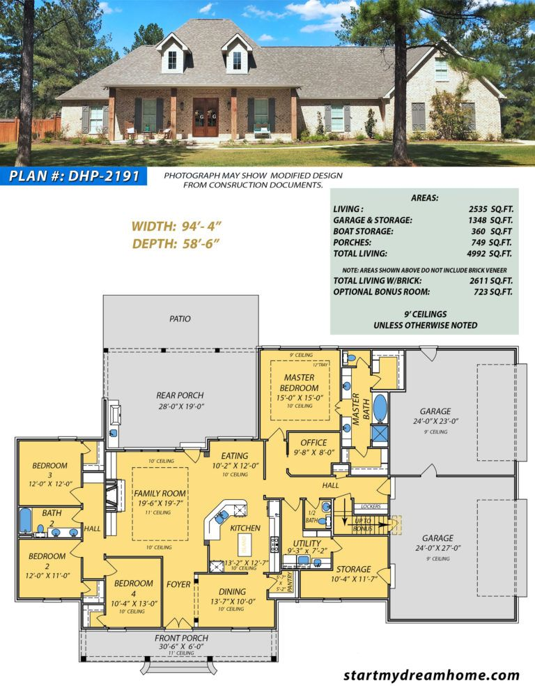 Dream Home Plan 2191 Start My Dream Home Dream House Plans House Plans Best House Plans