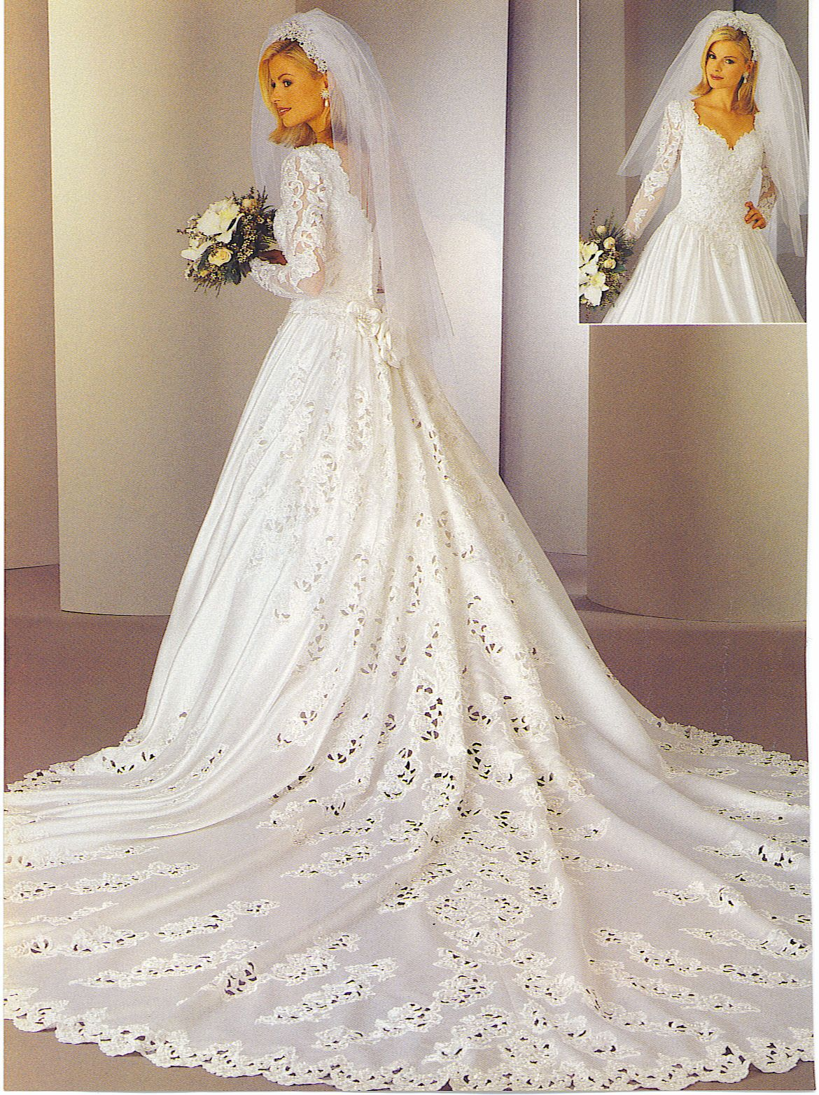Bride In A 90 S Vintage Wedding Gown From A Magazine Wedding Dresses Bridal Gowns Vintage Wedding Dresses 80s