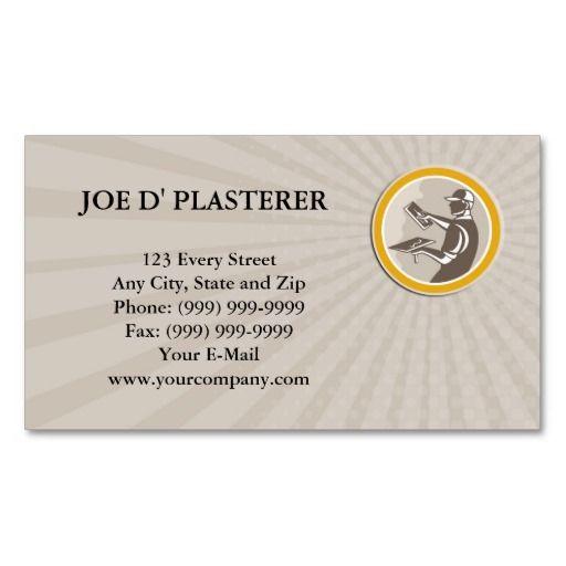 Business card plasterer masonry worker trowel retr business card business card plasterer masonry worker trowel retr flashek Choice Image