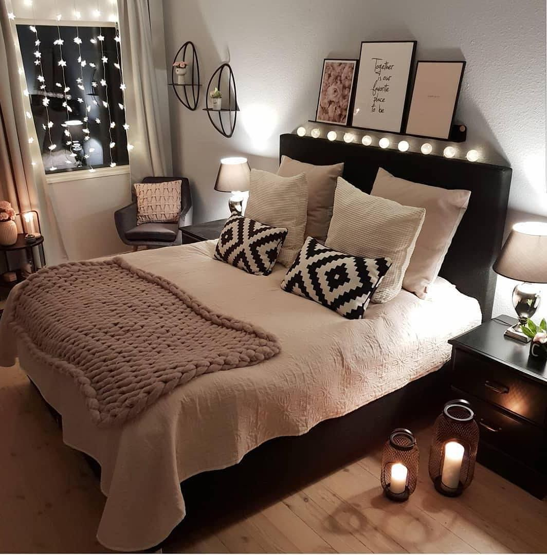 16 Warm and Romantic Bedroom Bed Decoration Ideas These trendy