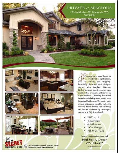 Superior For Sale By Owner Flyer   For Mom And Dad Daily Within Home For Sale Brochure