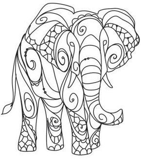 Gabii coloring pages ~ The Delicate Ones - Elephant_image | Machine Embroidery ...