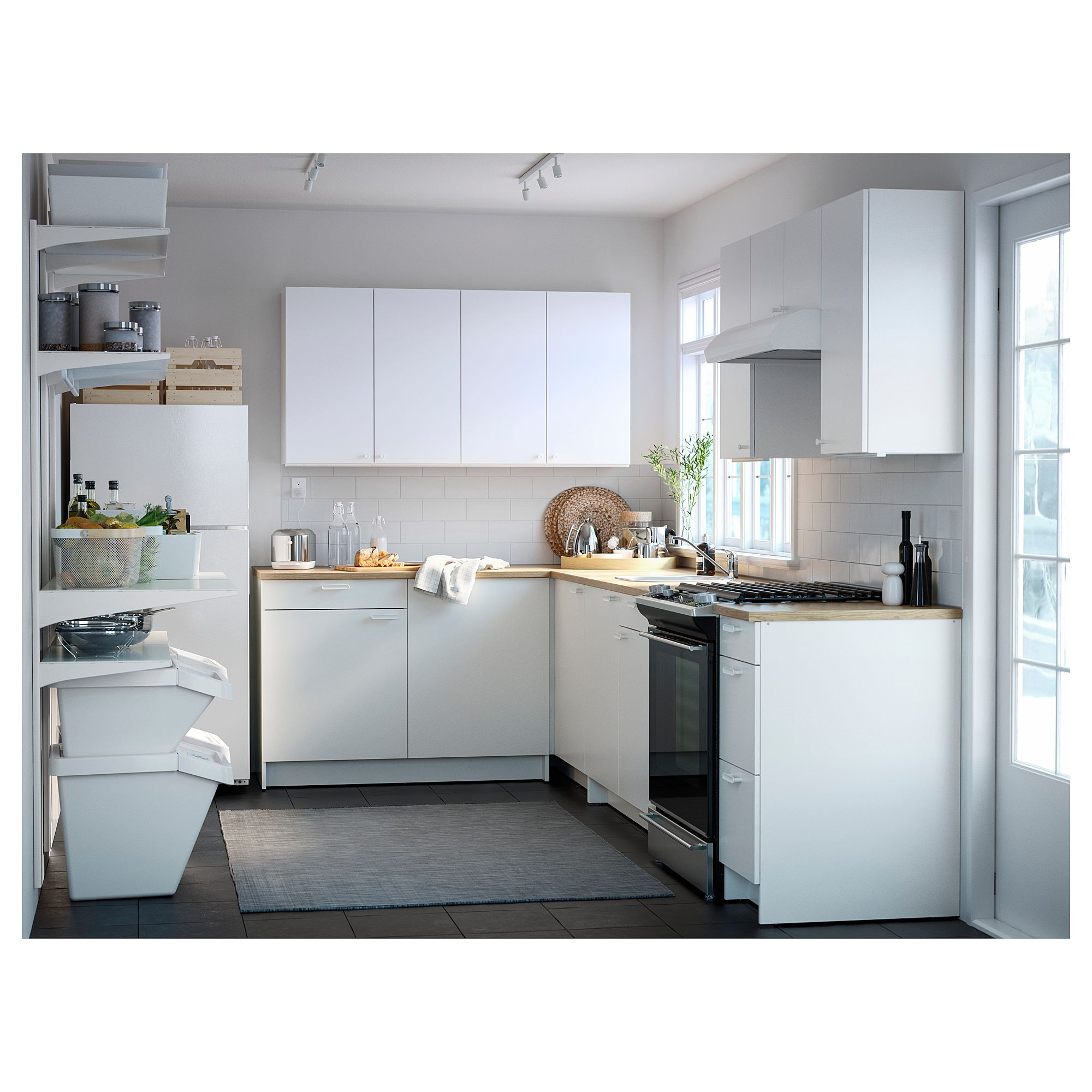 Küche Knoxhult Ikea Ikea Knoxhult Base Cabinet With Doors And Drawer White Kitchen