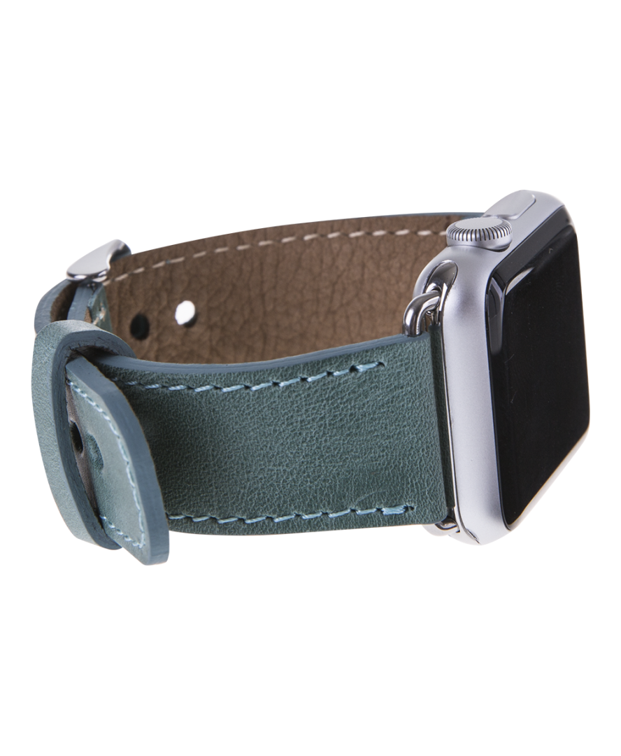 Leather Apple Watch Strap, Sea Green Apple watch leather