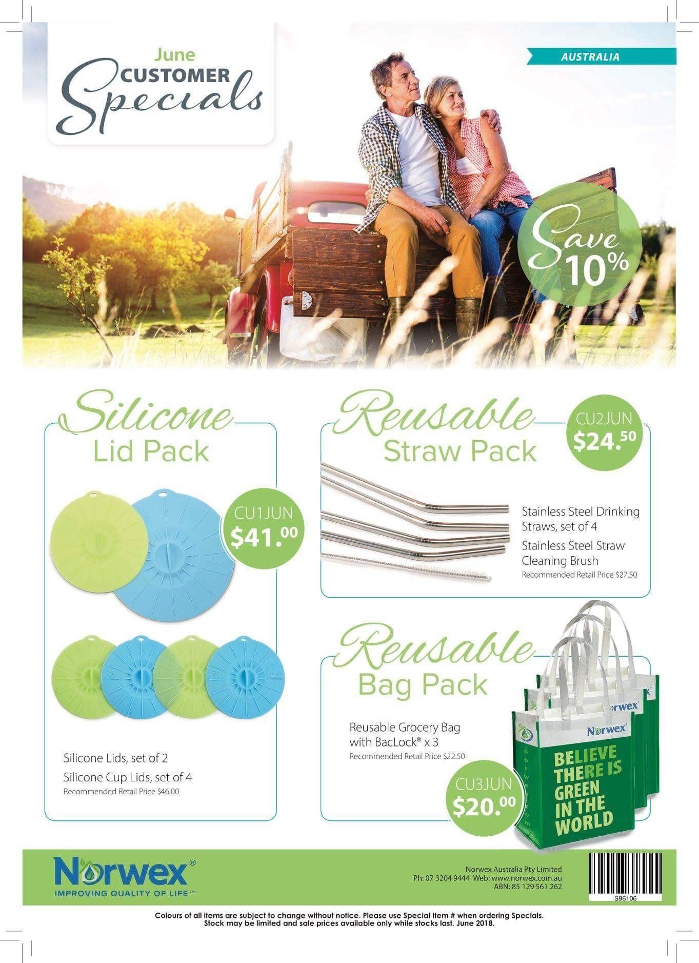 June Norwex Australia Customer Specials, reduce your cling