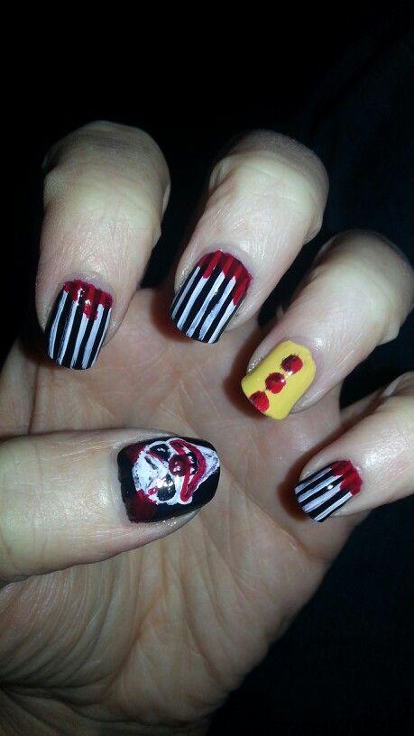 Halloween Nails! Creepy carnival clown | Nails, Creepy ...