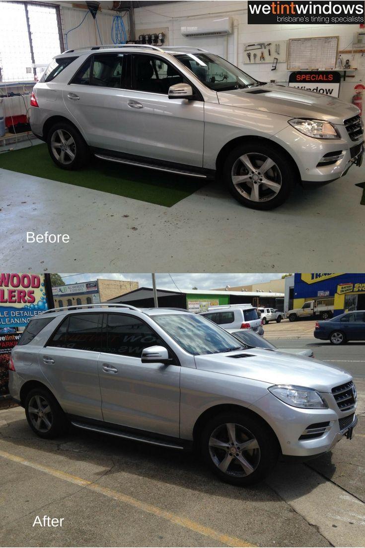 3m Black Tint Mercedes Suv Car White Car