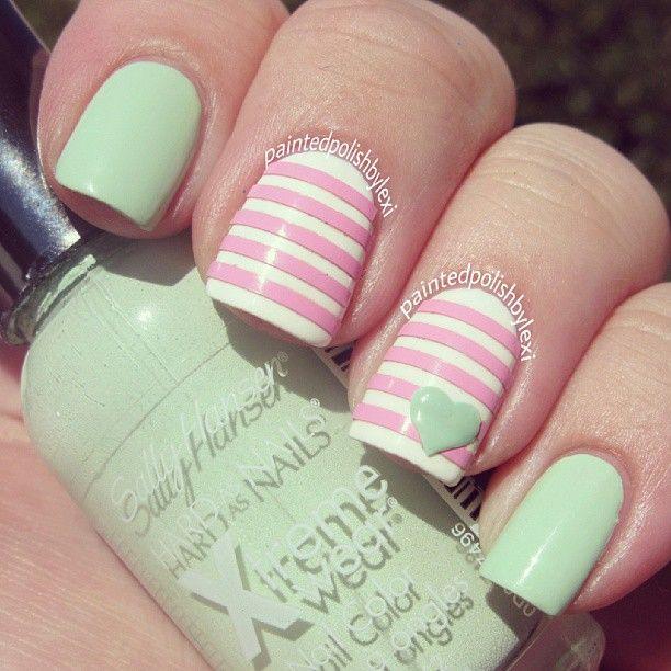 Instagram photo by paintedpolishbylexi #nail #nails #nailart · Mint Green  ... - Instagram Photo By Paintedpolishbylexi #nail #nails #nailart Uñis