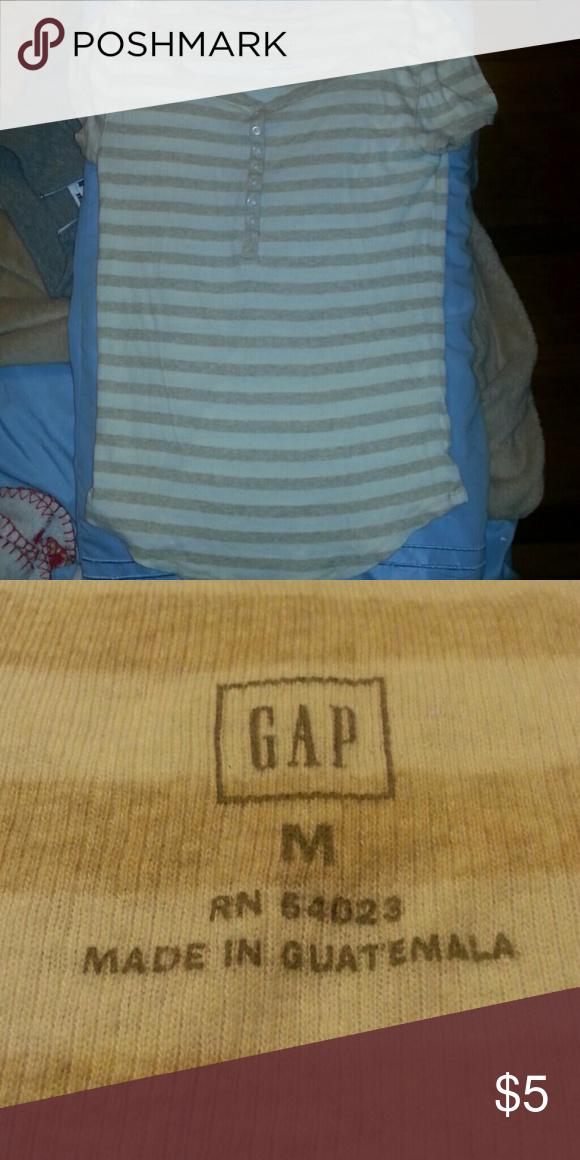 GAP Striped Shirt It is medium sized GAP Tops