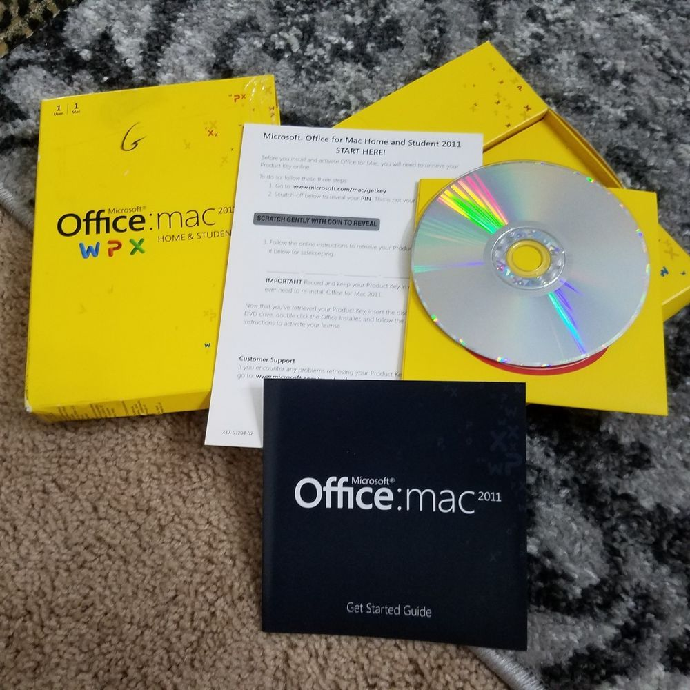 Office Mac 2011 Product Key Microsoft Office Mac 2011 Home Student Dvd 1 Mac W Product Key