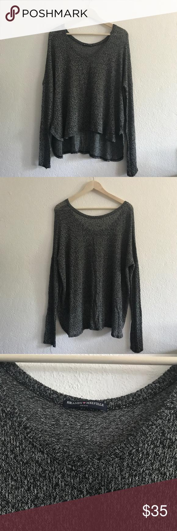 Brandy Melville dark grey sheer oversized sweater | Brandy ...
