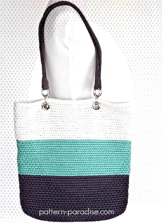 Crochet Pattern Tote Beach Bag Pacific PDF 16-263#Eyes