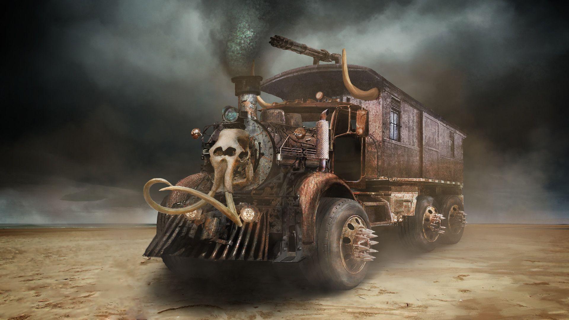 Warcraft Mad Max Hybrid Truck By Grace W Hybrid Trucks Psychedelic Illustration Fantasy Artist