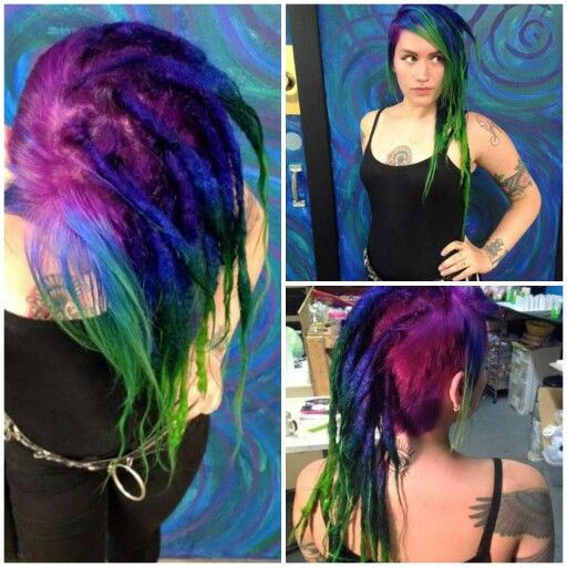 Love these colors done by carly kostiw, dreads done my khaos by design