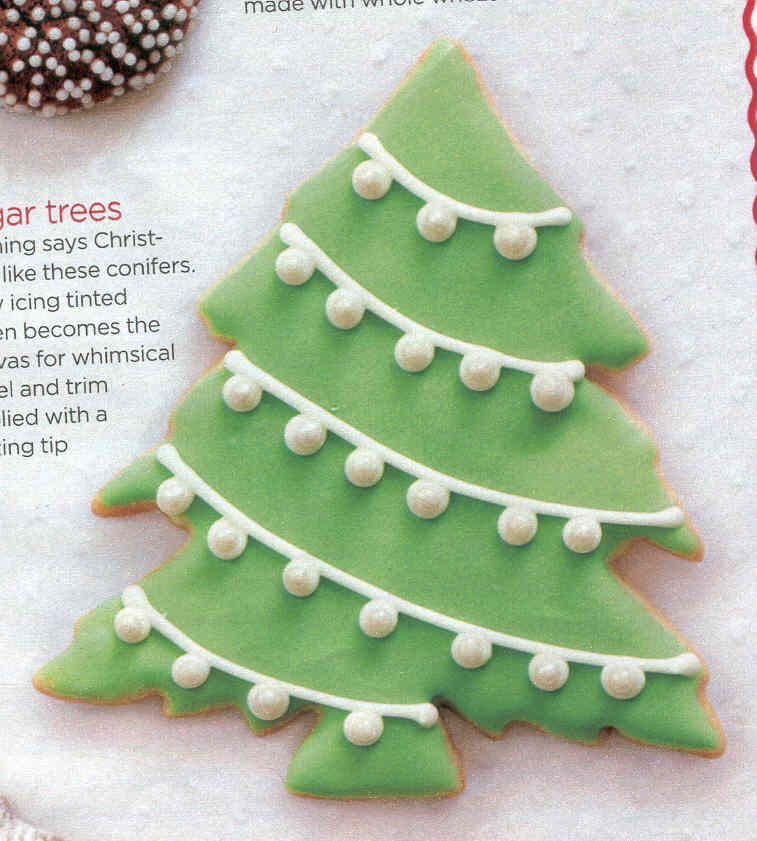 Christmas Tree With Pearl Decorations Cookie Canvas Pinterest