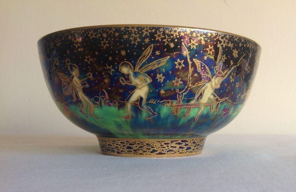 Art Deco Wedgwood Fairyland Lustre Bowl Pattern Z4968 By Daisy