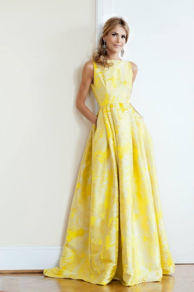 Vestidos largos casuales amarillos