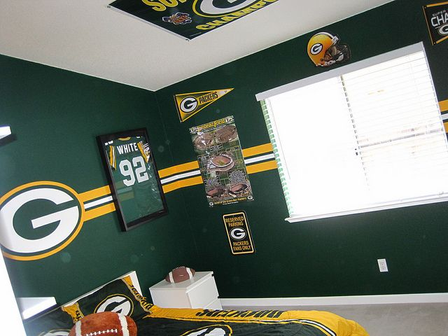 Green Bay Packer Bedroom 002 Green Bay Packers Bedroom Green