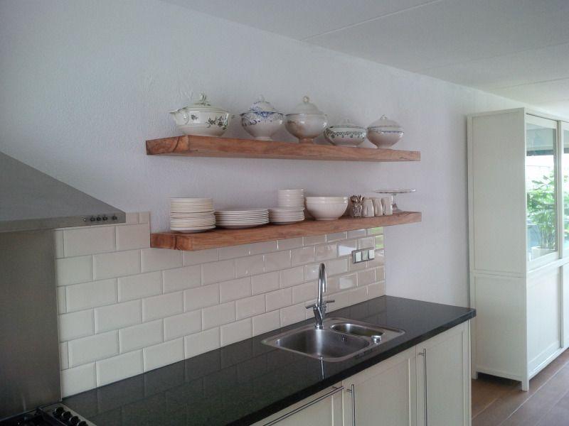 Eiken keuken plank opbergplank keuken kitchen kitchen
