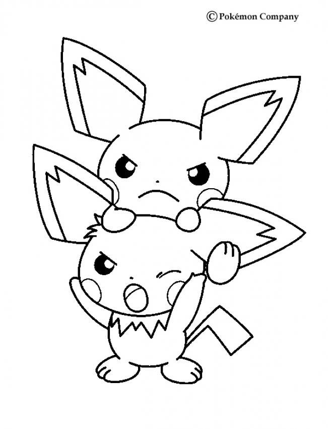 Pichu Pokemon Coloring Page More Pokemon Coloring Pages On