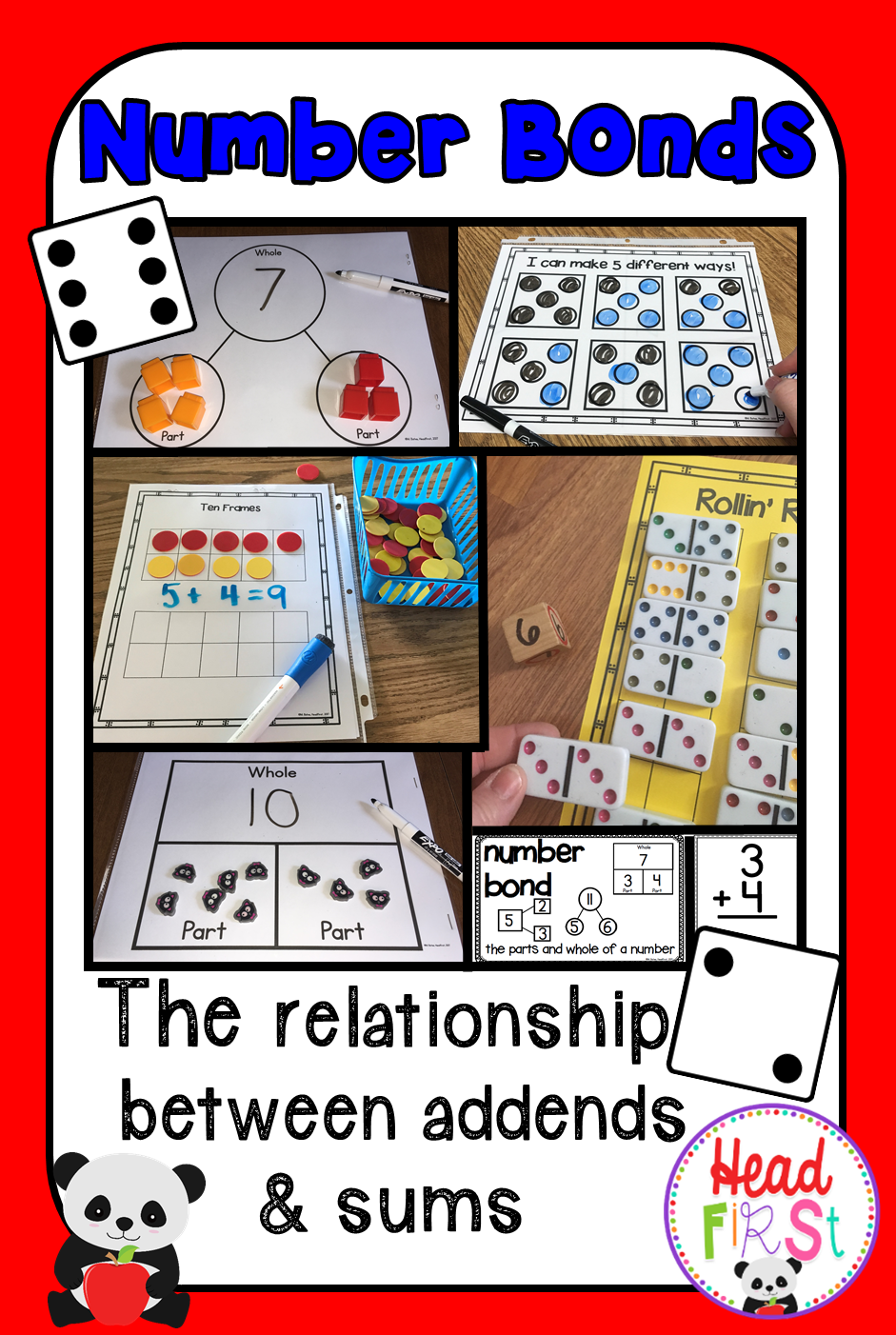 Number Bonds Are The Relationship Between Addends And Sums Hands On Activities Help Drive This Concept H 1st Grade Math Worksheets Number Bonds 1st Grade Math [ 1402 x 941 Pixel ]