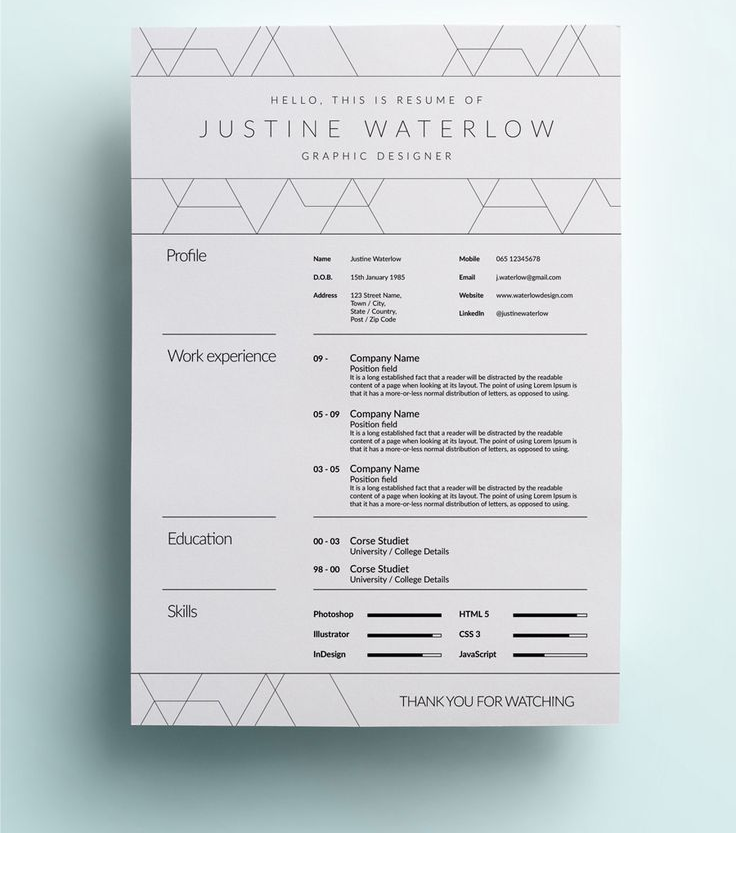 Cv Template  Cv Template    Cv Template And Creative
