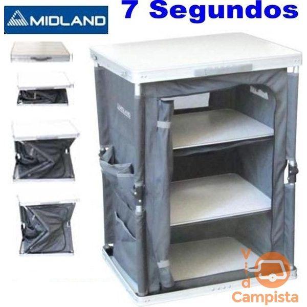 Mueble cocina con fregador en aluminio, camping Midland   Camping ...