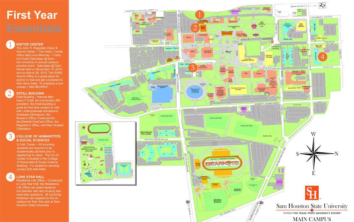 Campus Map SHSU Visitors Guide Color Me Inspired