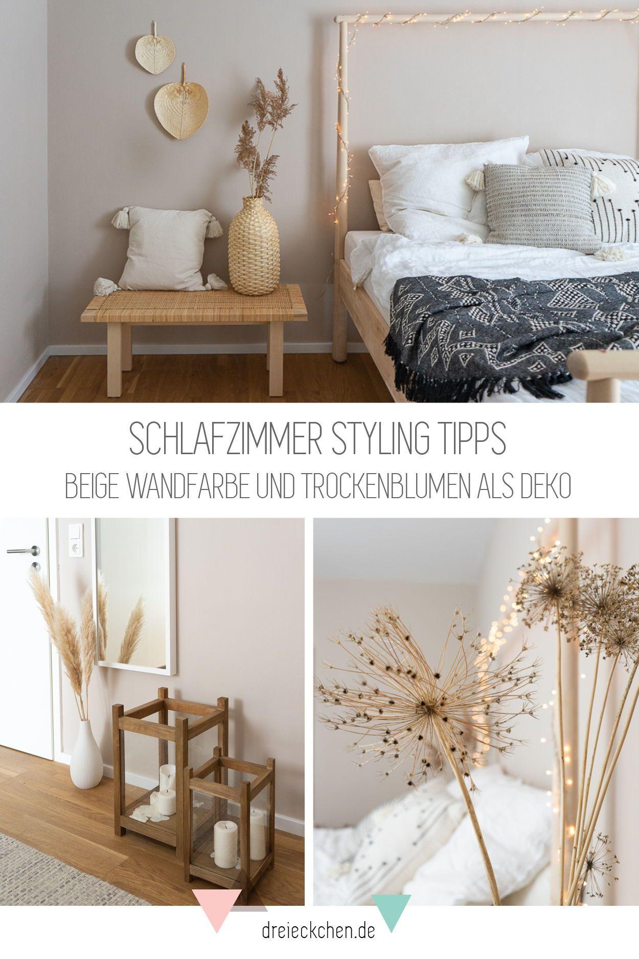 Schlafzimmer Deko Beige