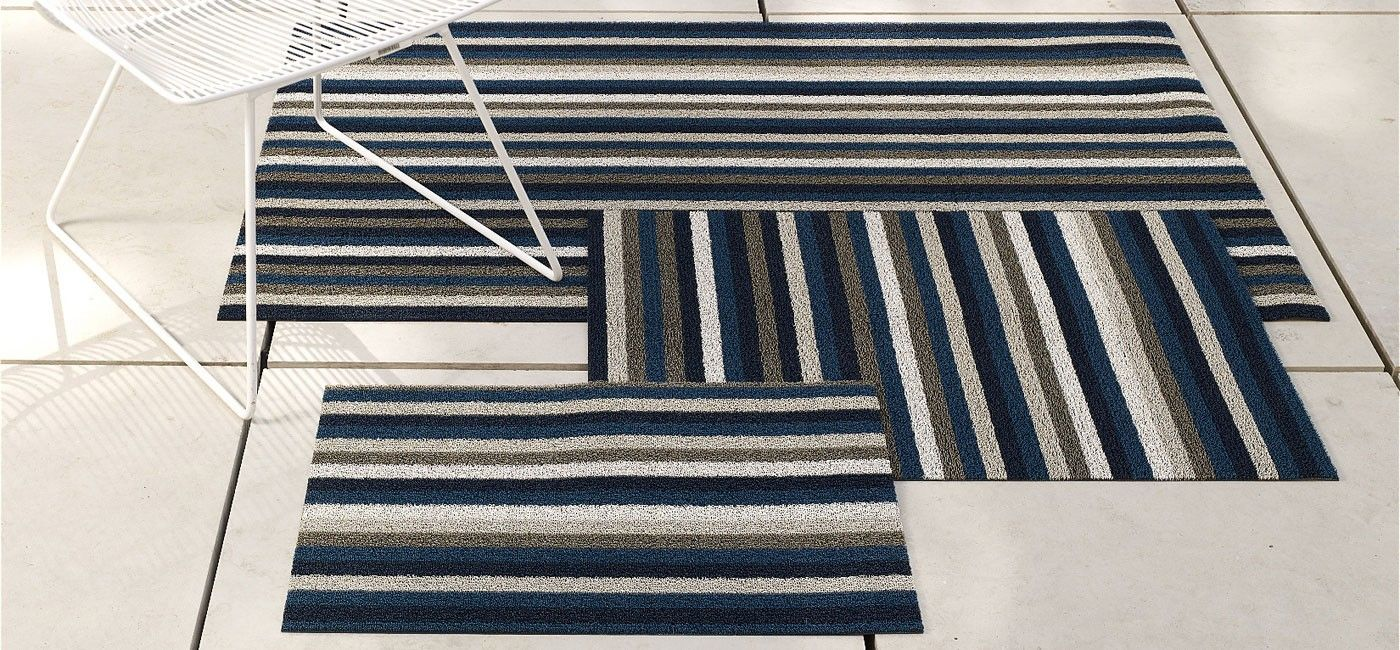 Chilewich Even Stripe Indoor Outdoor Mats Rugs And Carpets Home Accessories