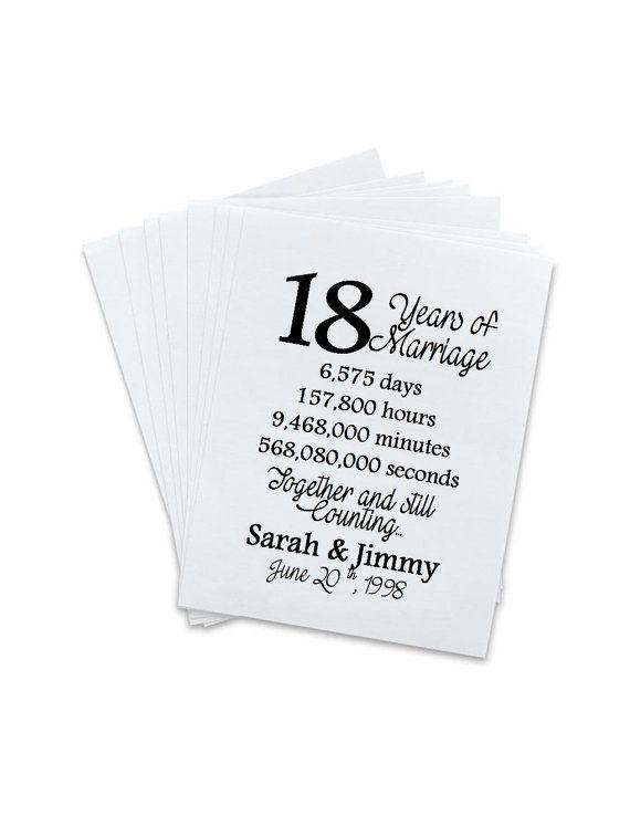 18th wedding anniversary gift
