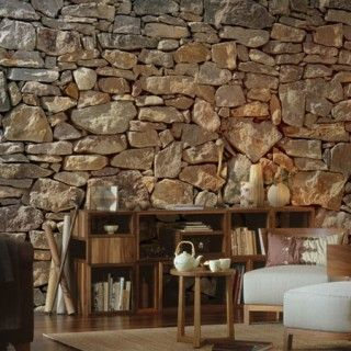 stone wall fotobehang komar | Rock, stone | Pinterest | Parement ...