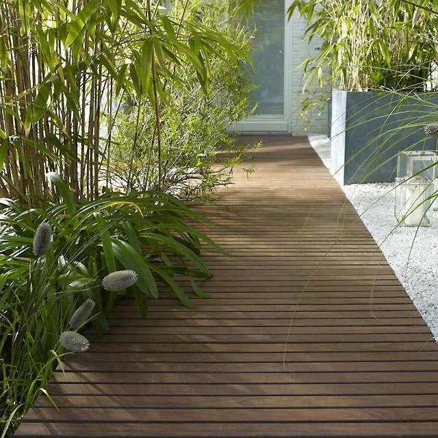 Terrasse en bois - 75 idées pour une déco moderne Patios - pose dalle terrasse sur beton