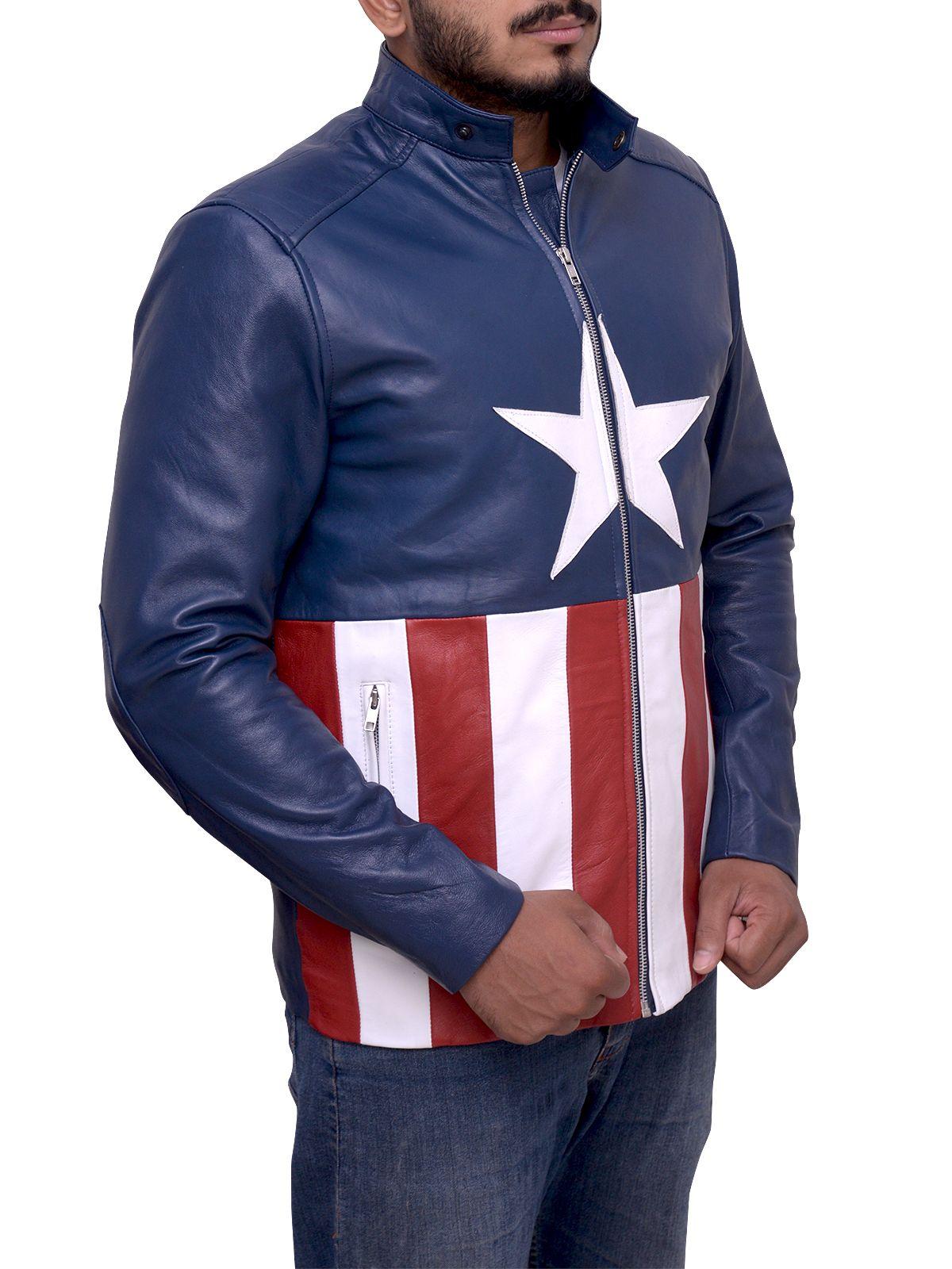 Super Cool American Flag Leather Jacket Men Jacket Mauvetree Leather Jacket Men Yellow Leather Jackets [ 1600 x 1200 Pixel ]