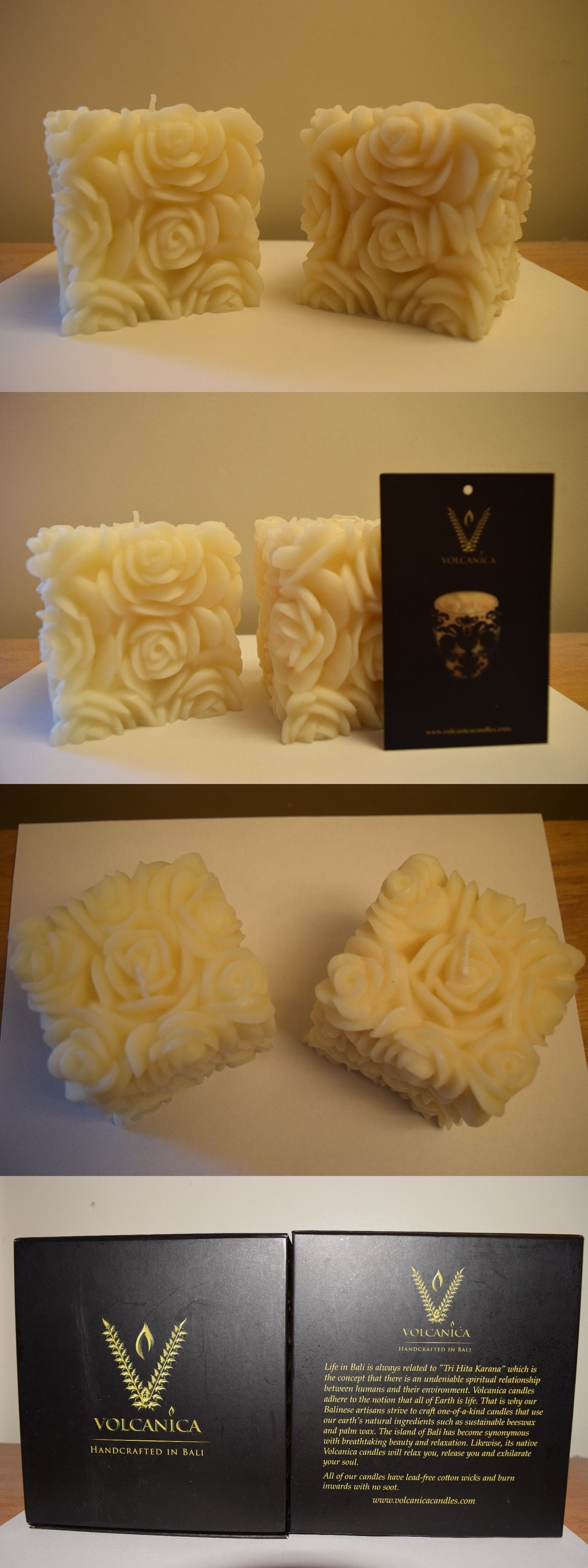 Candles and candle accessories volcanica white rose short