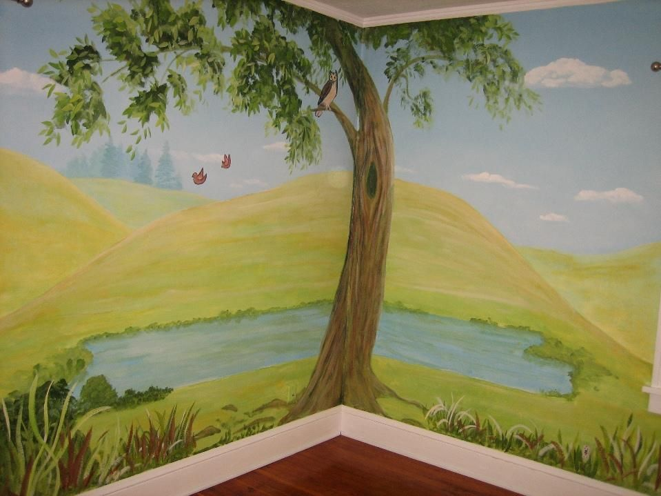 Tree And Pond Mural By Melissa Barrett Paint Design Wall Murals Part 71