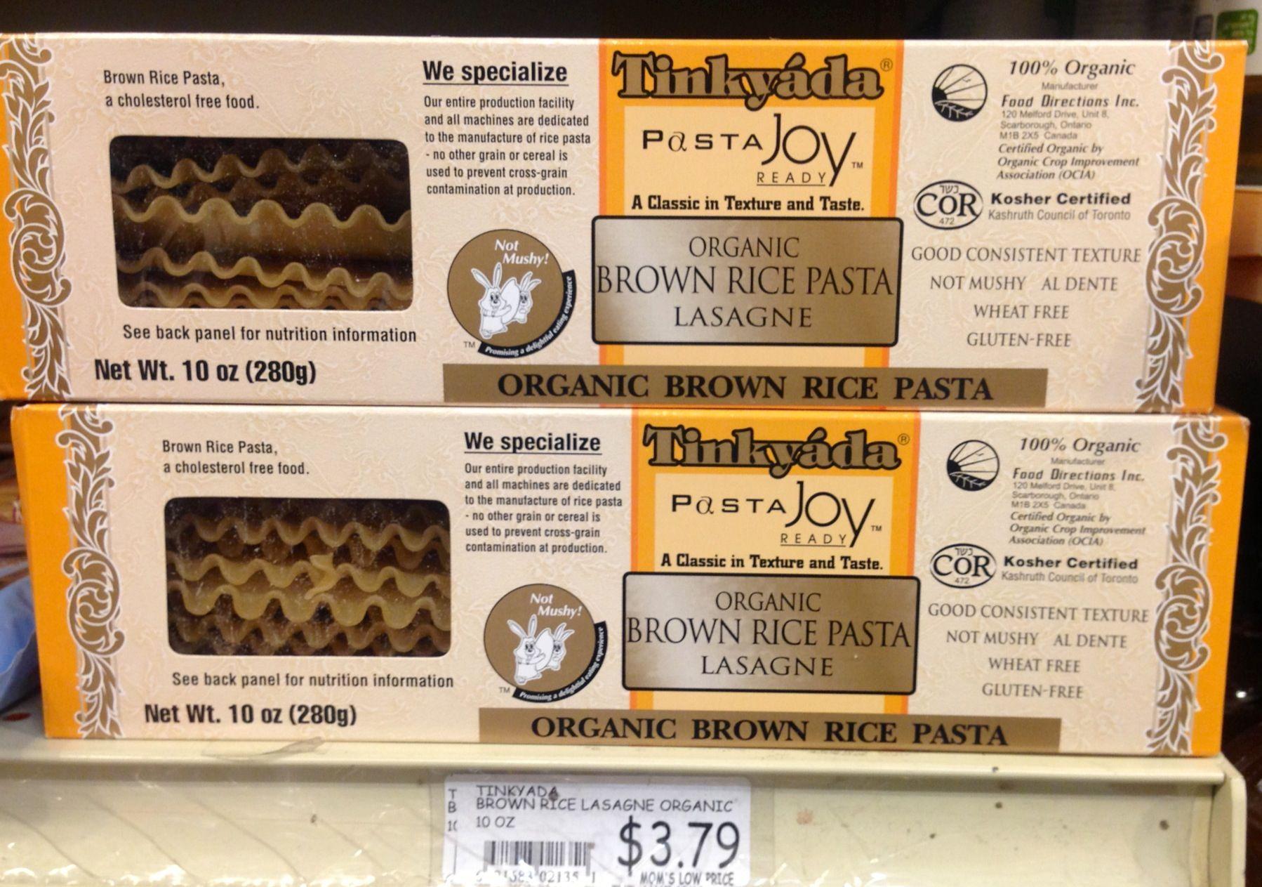Tinkyada Brown Rice Lasagne Mom S My Organic Market