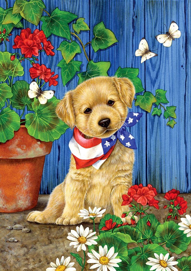 Картинка щенок с мамой сказочная