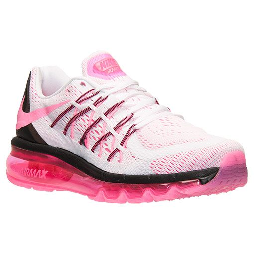 watch a802b 3e571 Women s Nike Air Max 2015 Running Shoes - 698903 106   Finish Line   White Pink  Pow Black
