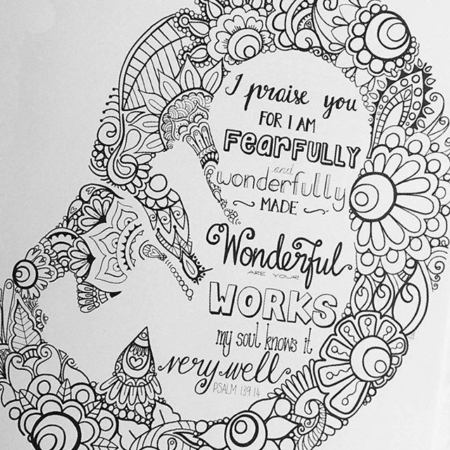 I Am Fearfully And Wonderfully Made Coloring Page